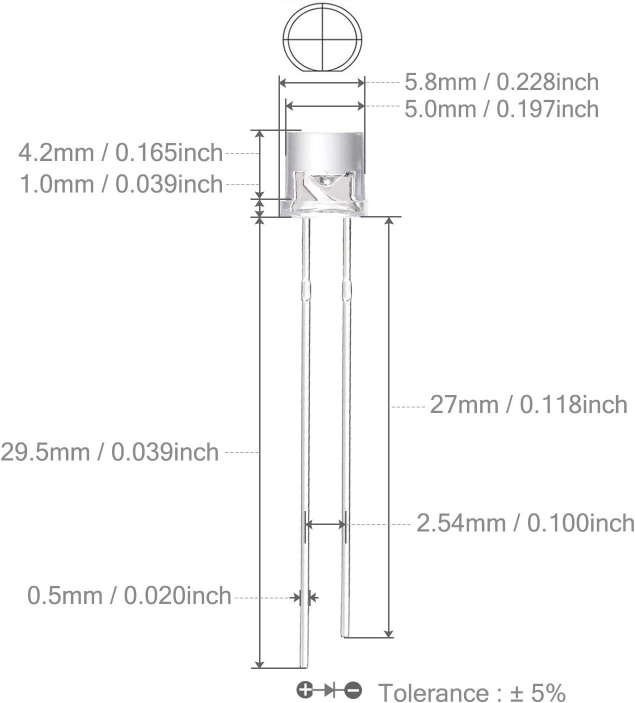 430v//100# led 5mm green cylindrical 100pcs-flat top led green 100pcs