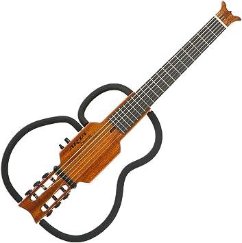 Aria Guitarra clásica sin sonido, cuerdas de nylon: Amazon.es ...