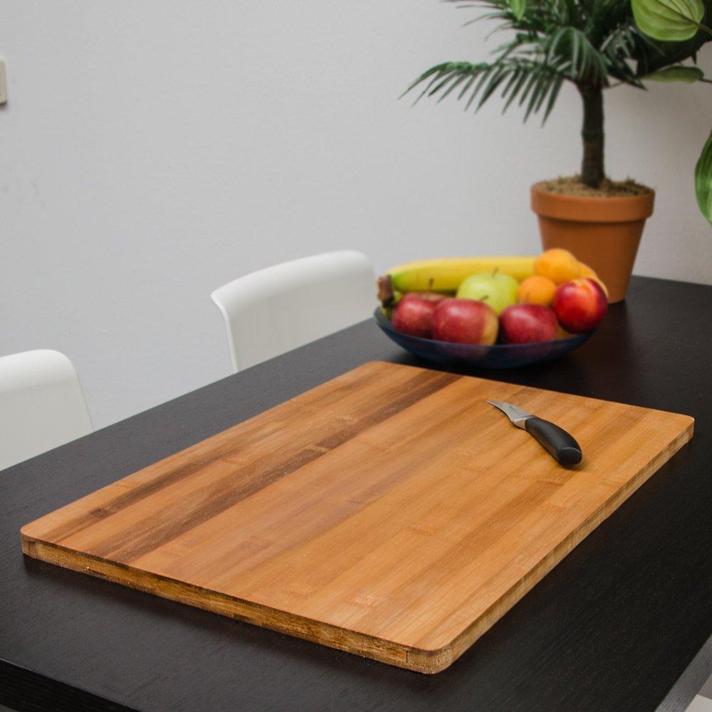 eyepower wooden Chopping Board 49x34cm large bamboo wood cutting board