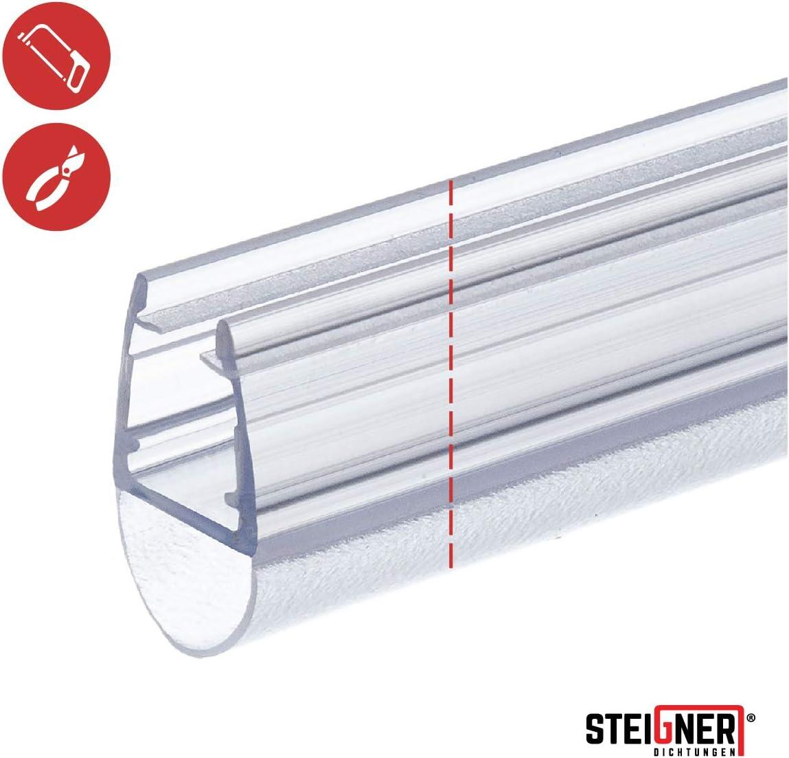 STEIGNER 30cm Joint de douche arrondi courb/é pour les vitres d/'une /épaisseur 3,5 mm// 4 mm// 5 mm UK06 Joint de remplacement