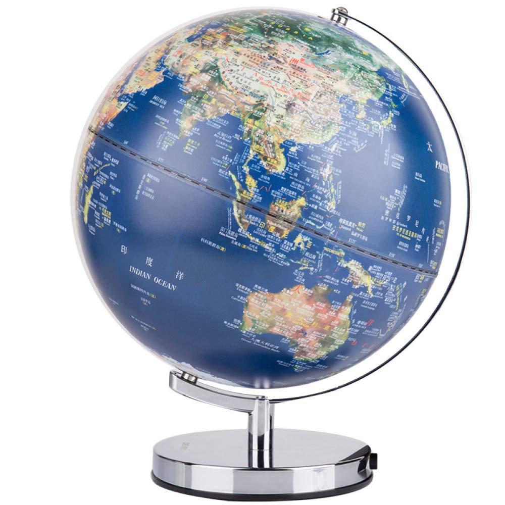 HAOLIN Weltkugel 360 ° -Rotation Kugel (Dia 30cm) Educational Geographic Modern Desktop-Dekoration Mit Einer Metallbasis-für Studenten Kinder