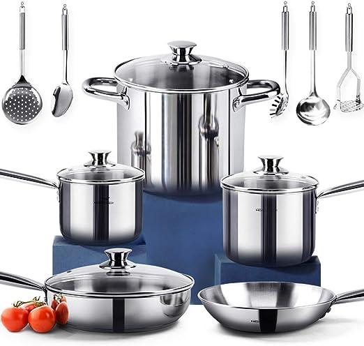 Amazon.com: HOMI CHEF - Juego de 14 piezas de utensilios de ...