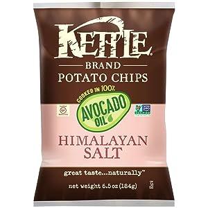 Kettle Brand Potato Chips, 100% Avocado Oil Himalayan Salt, 6.5 Ounce