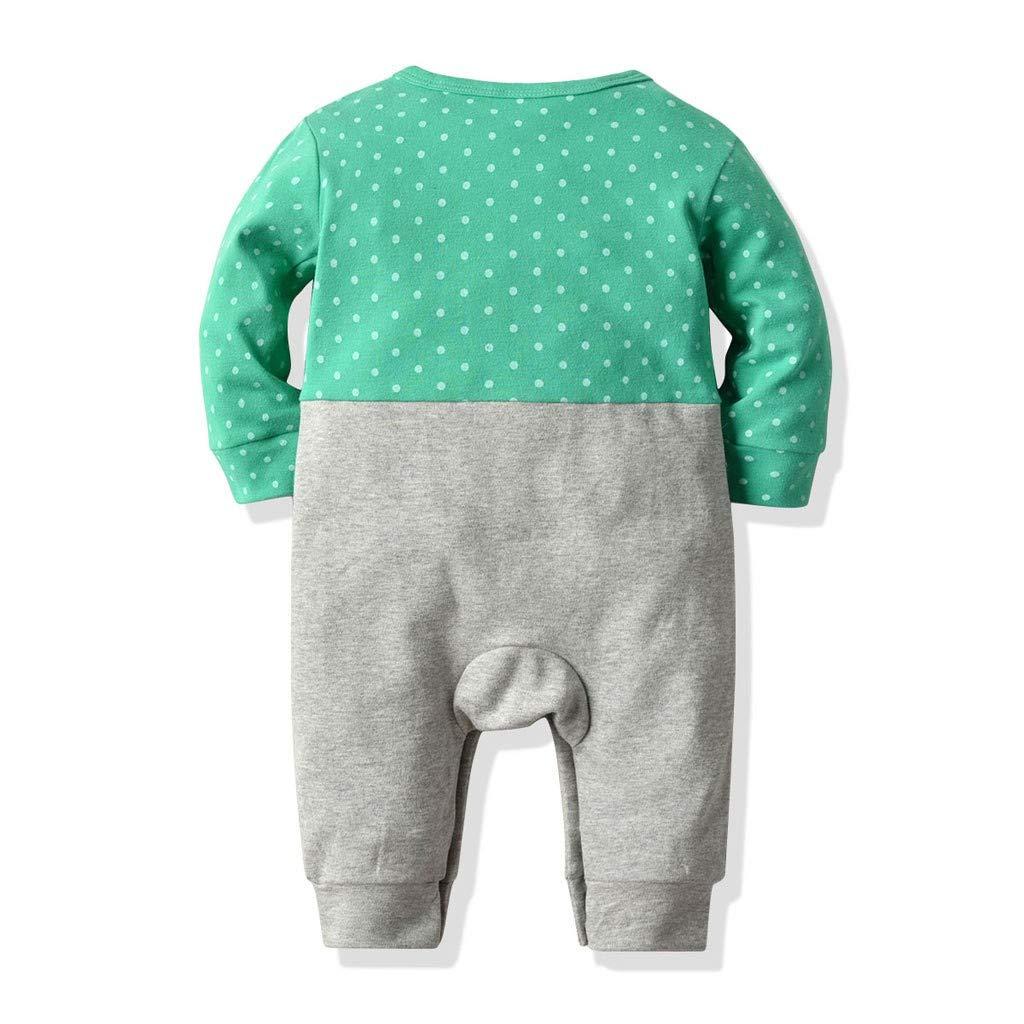 LABIUO No/ël Combinaison B/éb/é Gar/çons Filles Automne Hiver Pyjamas Manches Longues en Coton Cerf Imprim/é Grenouill/ères Body Barboteuse Mignon No/ël V/êtements B/éb/é Pas Cher pour 6-24 Mois