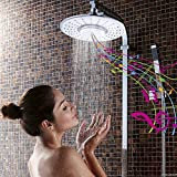 iRainy SH-BS07 Showerhead W Waterproof Wireless Bluetooth Speaker for Music & Phone Call in Bath - White