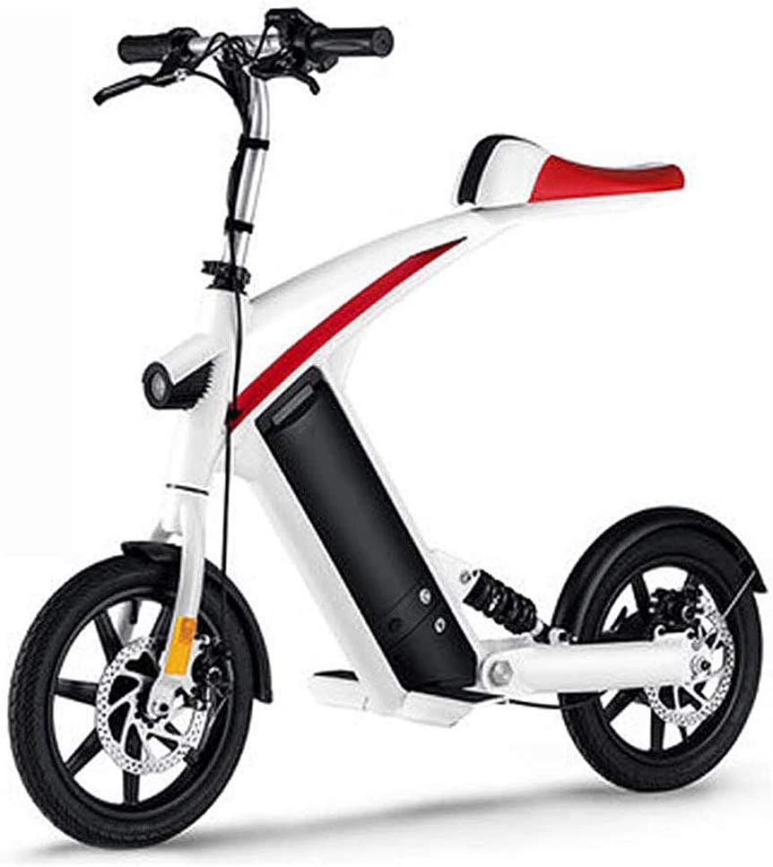 Rxrenxia Bicicleta Eléctrica, Adulto De Dos Ruedas Mini Pedal del Coche Eléctrico Plegable Fácil Y Continúe con Diseño De Datos Pantalla LCD Puerto De Carga USB Al Aire Libre