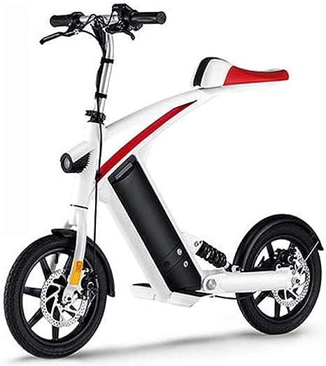 Rxrenxia Bicicleta Eléctrica, Adulto De Dos Ruedas Mini Pedal del ...