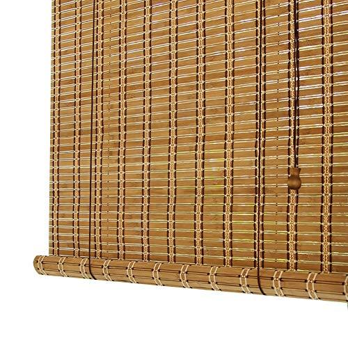 WENZHE Persiana Enrollable Romanas Estores De Bambú Persiana Enrollable Sombra Cortar Balcón Kiosco De Té Cortina Ciega...