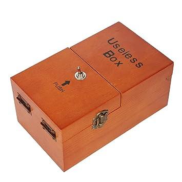Amazon.com : Ehonestbuy Wooden Turns Itself Off Useless Box, Leave ...