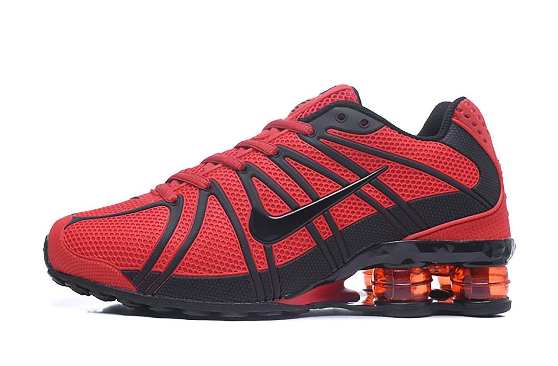 timeless design d1b59 936c5 Amazon.com   RUNSHOT Mens AIR Shox-OZ Special Plastic Surface 801 Running  Shoes - Red Black   Road Running