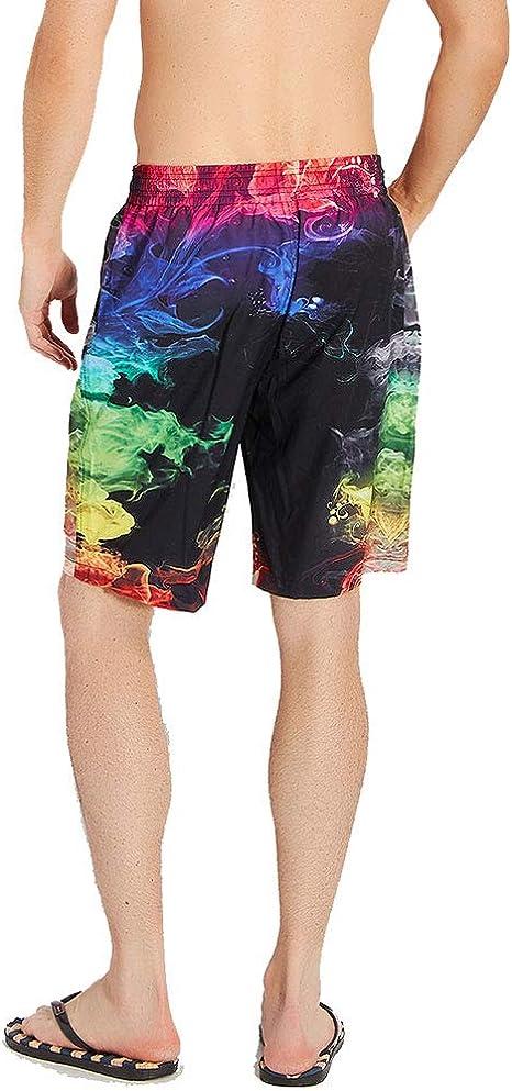 COLSHOORTS Spitfire Dinosaur Mens Swim Trunks Summer 3D Print Graphic Casual Athletic Swimming Shorts