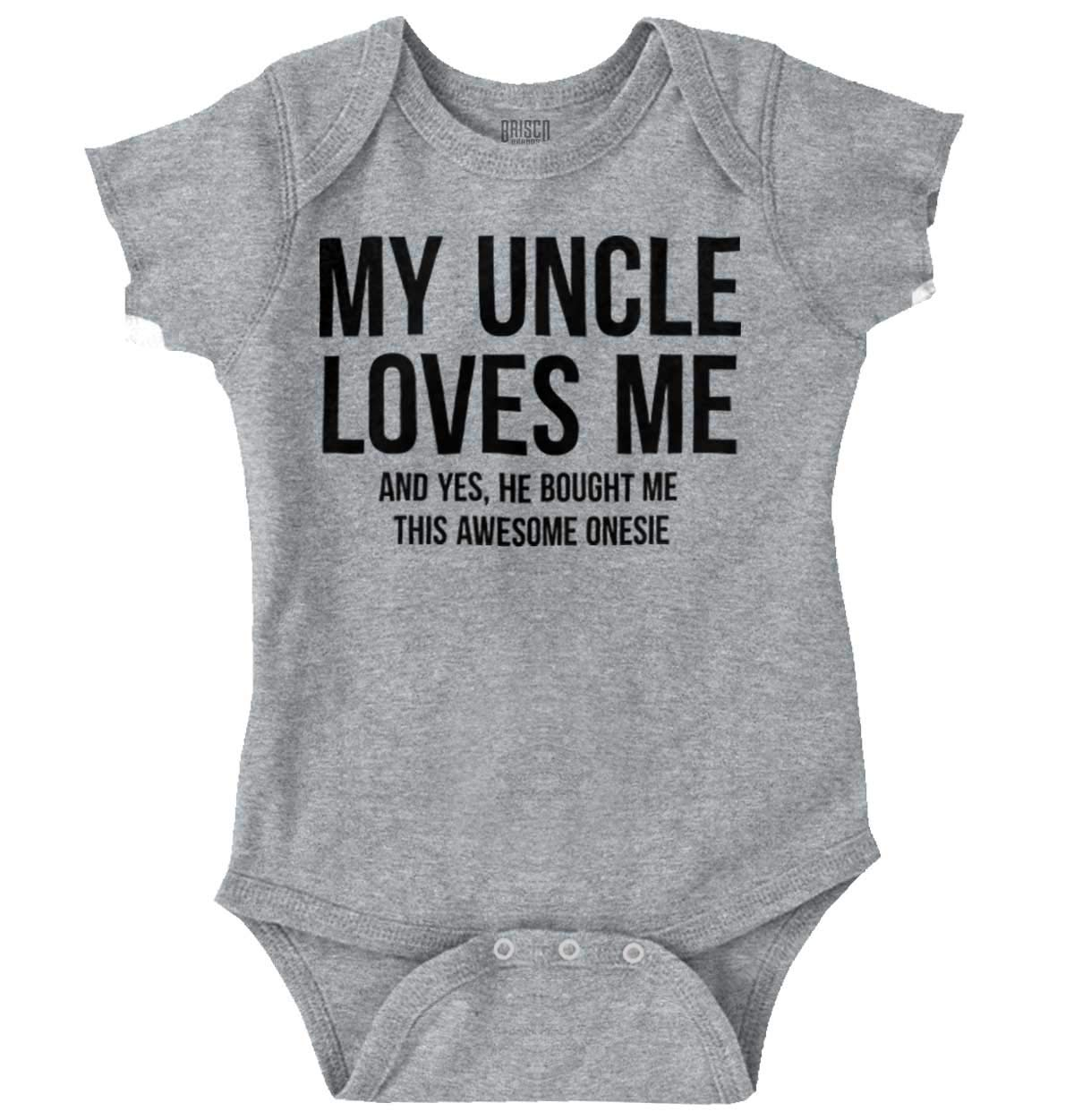 My Uncle Loves Me and Bought Me This Awesome Shirt| Funny Romper Bodysuit