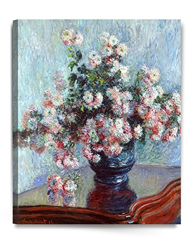 - Chrysanthemums, Claude Monet Art Reproduction. Giclee Canvas