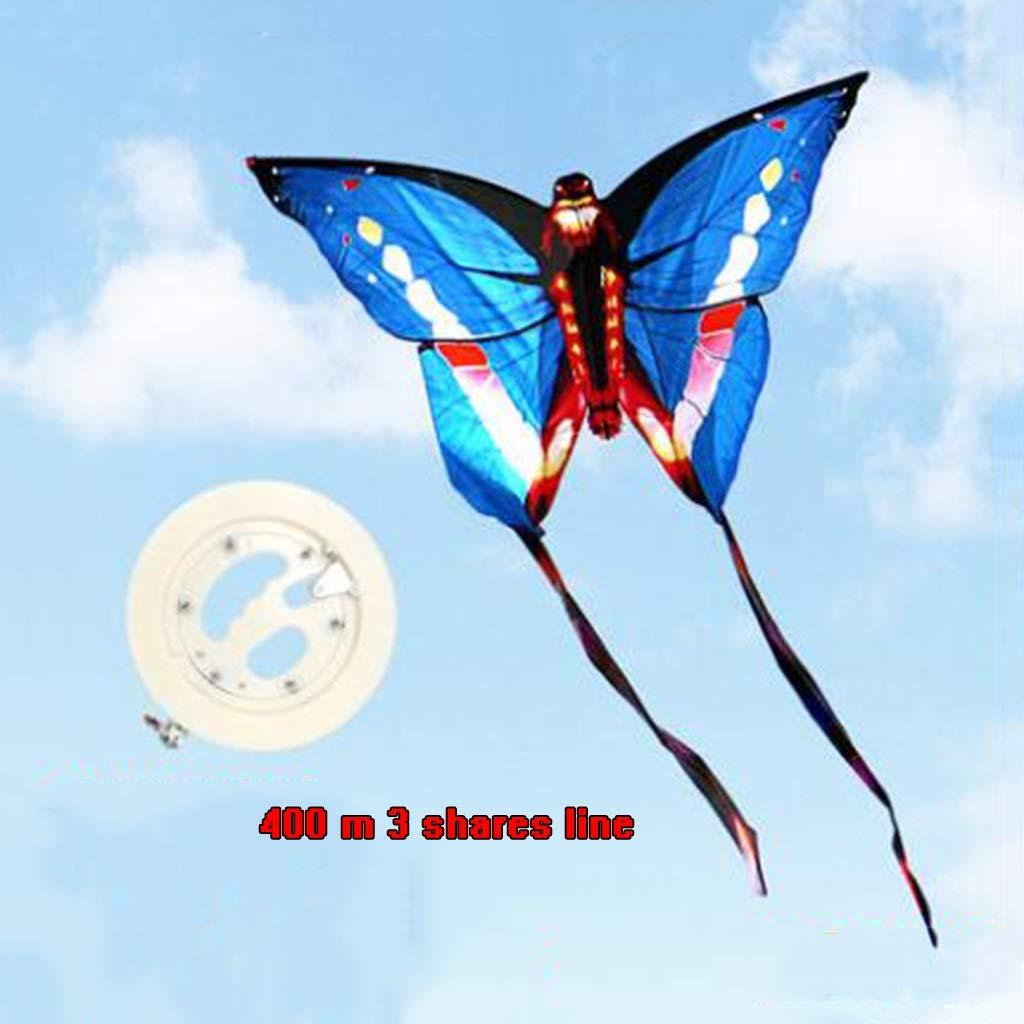 TD Drachen B0274 Schmetterling Brise Familie Unterhaltung Gute Fliege Kind Erwachsener Yi Fei 400 Meter Linie (Farbe   Rosa) Blau
