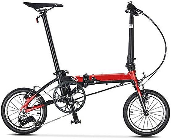 LPsweet Bicicletas Plegables, Mini 14 Pulgadas Ultra Ligero ...