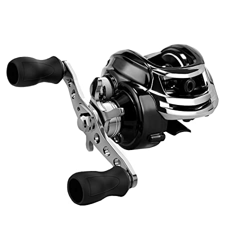 SAN LIKE Low Profile Baitcasting Reel Fishing Reel 7 1 Shielded Bearings Bait Casting Reels Dual Brakes Ultra Smooth 17.6 LB Carbon Fiber Drag 6.3 1 Gear Ratio Baitcasters Right Handed