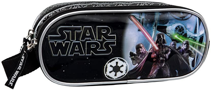 Star Wars Estuche Doble Compartimento, Color Negro, 1.45 litros: Amazon.es: Equipaje
