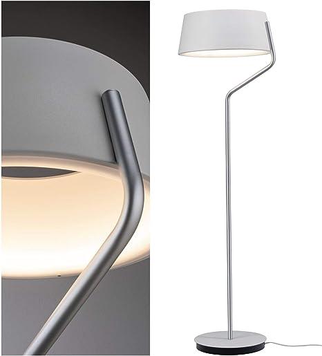 60 W Fischer/&Honsel WOTAN Stehleuchte nickelfarben Metall