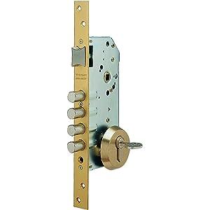 Tesa Assa Abloy, R100B566E, Cerradura Monopunto de Seguridad para Puertas de Madera, Acero