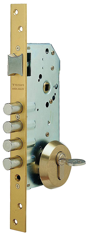 Tesa Assa Abloy, R100B566E, Cerradura Monopunto de Seguridad para Puertas de Madera, Acero Esmaltado: Amazon.es: Bricolaje y herramientas