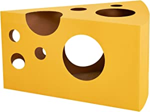 VETRESKA Cat Scratcher Cardboard Cat Scratching Post for Kitty and Adult Cats, Cheese, Cherry and Cactus