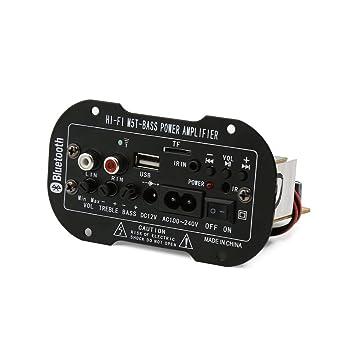 DealMux El Carro del Coche del Bluetooth del subwoofer MP3 Amplificador del descodificador Junta 12V 100