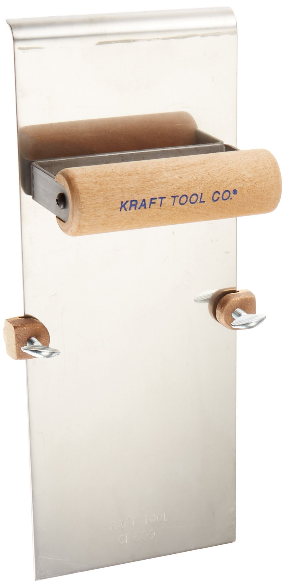 Kraft Tool CF609 Stainless Steel Edger with Adjustable Groover 3/8-Inch -Radius