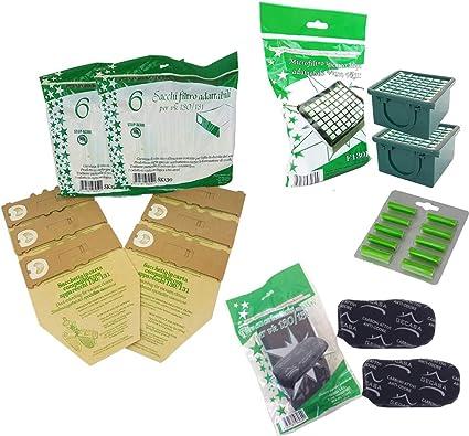 12 sacchetti 10 profumatori 2 filtri carboni attivi PER FOLLETTO VK 130 131 2 filtri Hepa