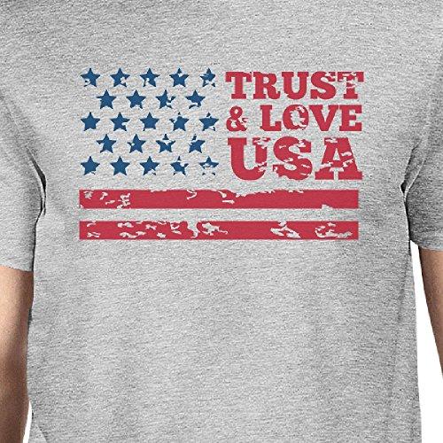 shirt Love Unique Courtes Trust T Printing Homme Taille 365 Manches amp; Usa EvAOcq