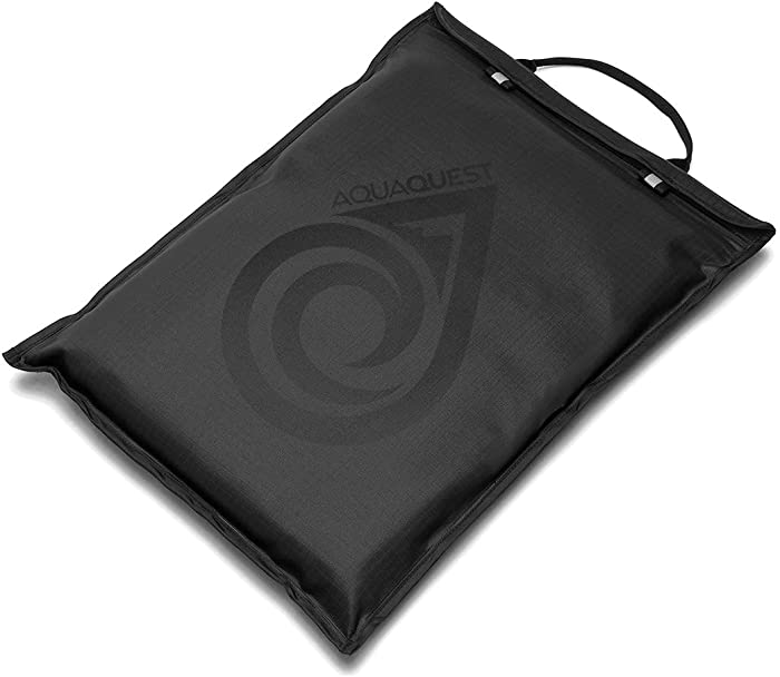 "Aqua Quest Storm Laptop Sleeve - 100% Waterproof, Lightweight, Durable, Padded Case - Protective Computer Pouch Cover Bag - 13"" Black"