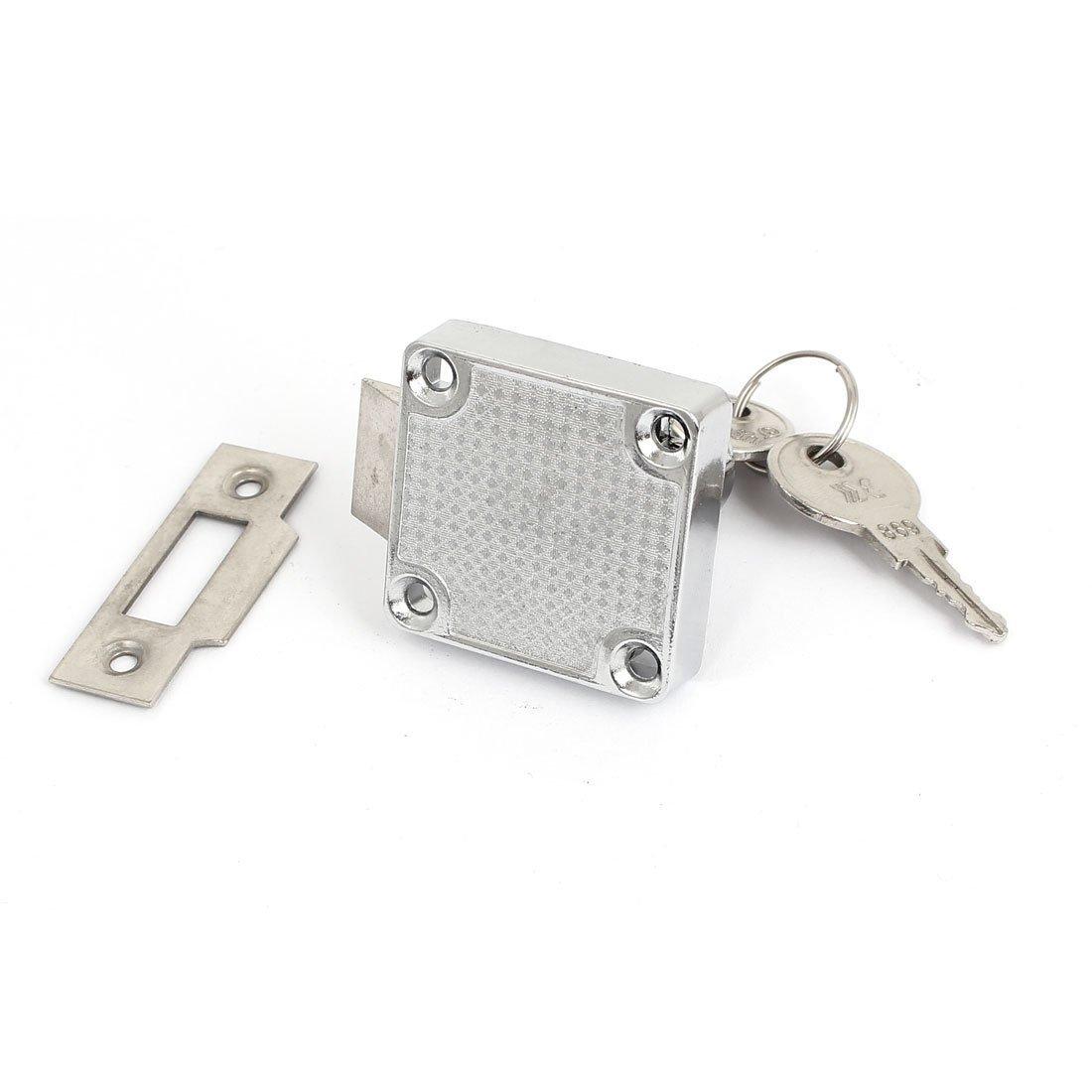 Amazon.com : eDealMax Gabinete cajonera 40mmx39mmx31mm Bloqueo del Metal de Plata del tono w Teclas : Baby