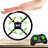 DWI Dowellin Mini Drone Crash Proof RC Quadcopter One Key Spin Flips Rolls Nano Drones Toys for Kids Beginners Children Boys and Girls, Comes with Case