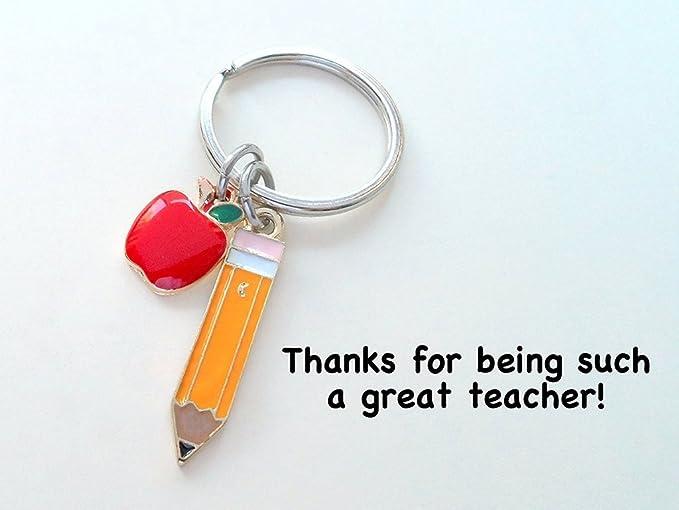 Navidad profesor regalos Llavero de regalo para maestro llavero para maestra mam/á cumplea/ños graduaci/ón Acci/ón de Gracias