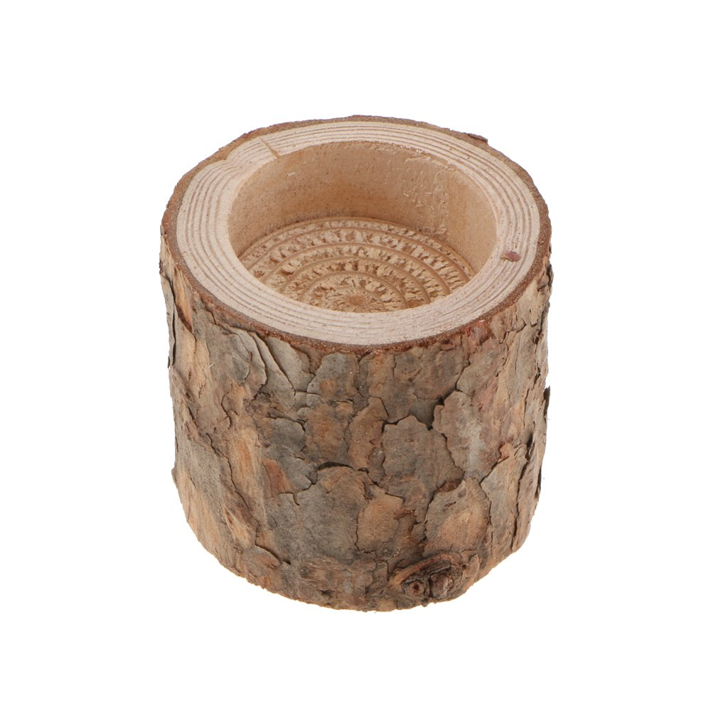 Flameer 50Pcs Tea Light Candle Holders, Wooden Candle Holder, Natural Wood Candle Holders Candlesticks Holder for Rustic Wedding, Party, Birthday Decor by Flameer