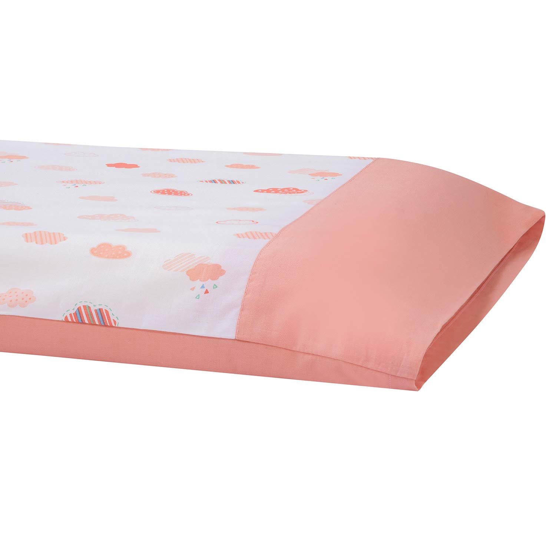 Clevamama ClevaFoam Pram Pillowcase 100/% Cotton Coral