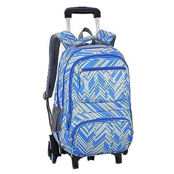 3336539e8ad0 Amazon.com: C-Xka Rolling School Bag, Waterproof Rolling Backpack ...