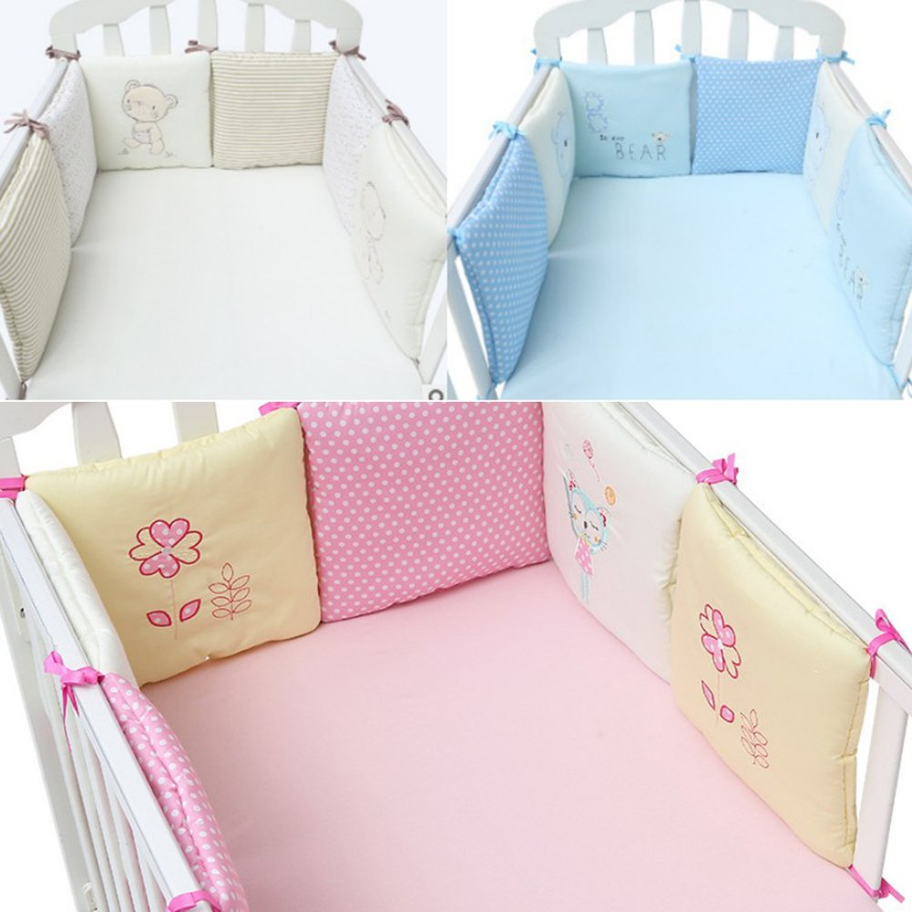 Toddle Baby Crib Bedding Bumper Free-combination 10 Pieces Cotton Crib Bumpers