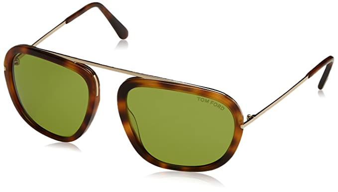 Tom Ford Sonnenbrille Ft0453 Sunglass Met Black Lucido With Green Grad, 57