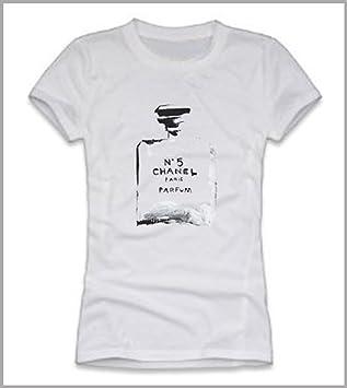 8fe62240ae T-shirt donna Black CHANEL: Amazon.co.uk: Sports & Outdoors
