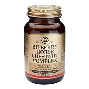 Solgar Bilberry Horse Chestnut Complex - 60 Vegetarian Capsules: Amazon.es: Salud y cuidado personal