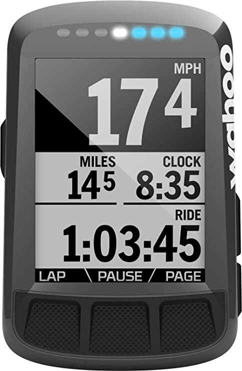 Wahoo Fitness ELEMNT Bolt Bike Computer, Unisex Adulto, Black