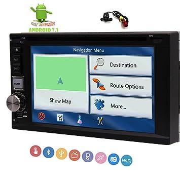 Android 7.1 Autoradio con 1 GB de RAM Doble DIN Car Stereo Radio 10.1 Pulgadas de ...