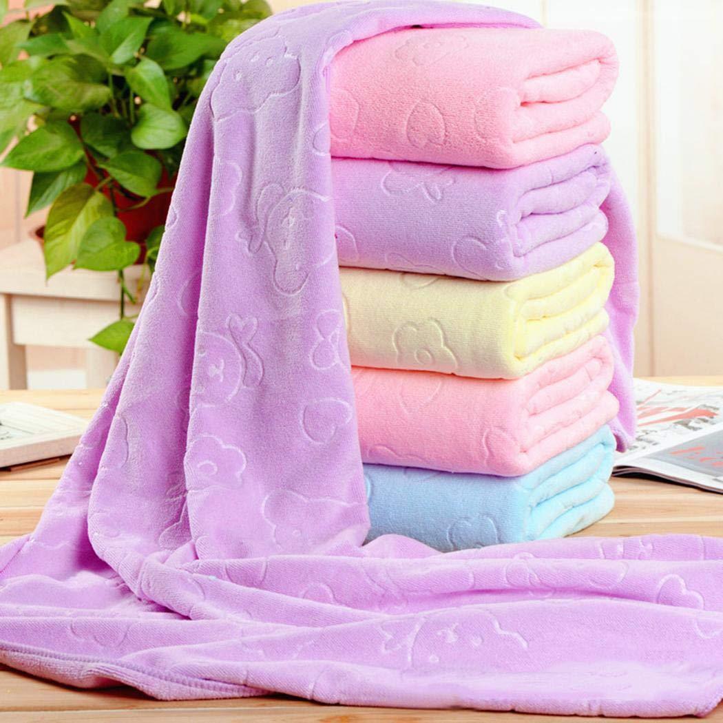 Dickin 3pcs Bathroom Soft Water-Absorbing Square Towel Bath Towels Set Bath Sheets