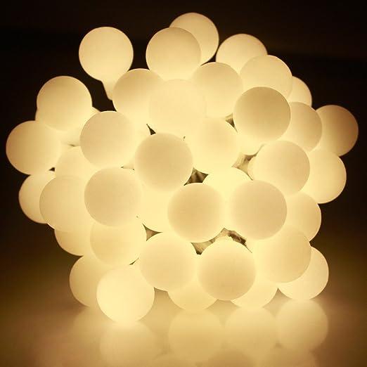 JnDeeTM Waterproof Berry Ball Fairy Lights 12M 100 LED Warm White ...