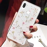 Telefoonhoesje voor Huawei P20 Lite Flower Case, Zachte Silicone Heldere Flexibele Rubber TPU Gel Handgemaakte Gedroogde…