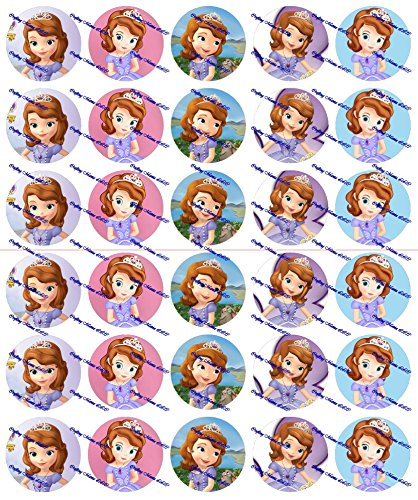 30 Precut Images Sofia The First Princess Set (Princess Bottle Cap Necklace)