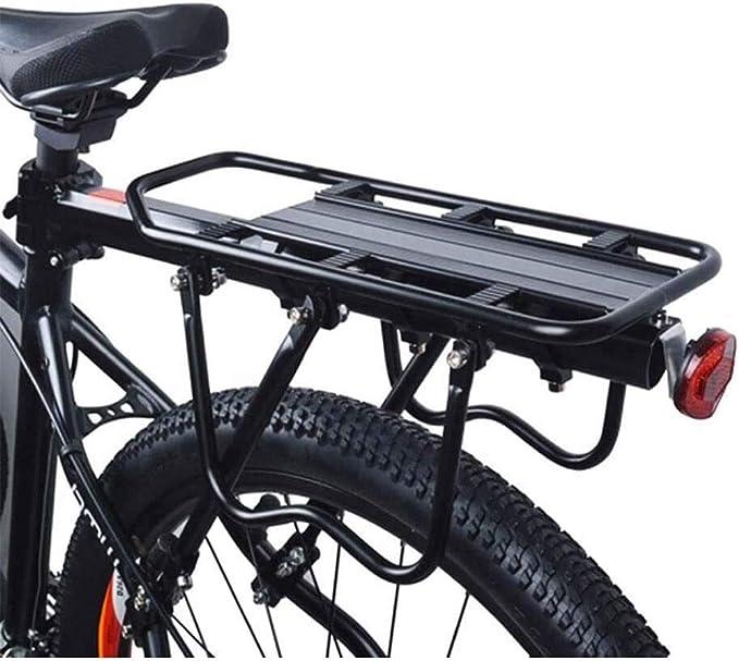 LMCLJJ Bicicleta de carretera portabultos bicicleta del estante del Pannier del lanzamiento rápido del camino de la montaña portador de la bici Estante de la capacidad universal de bicicletas Bastidor: Amazon.es: Hogar