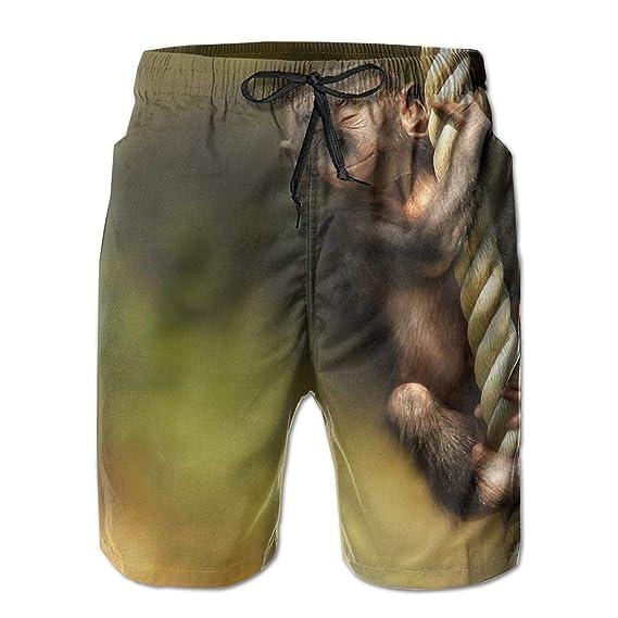 966a553737685d Singe, Corde, Animal Homme Short de Bain Séchage Rapide 3D Printed ...