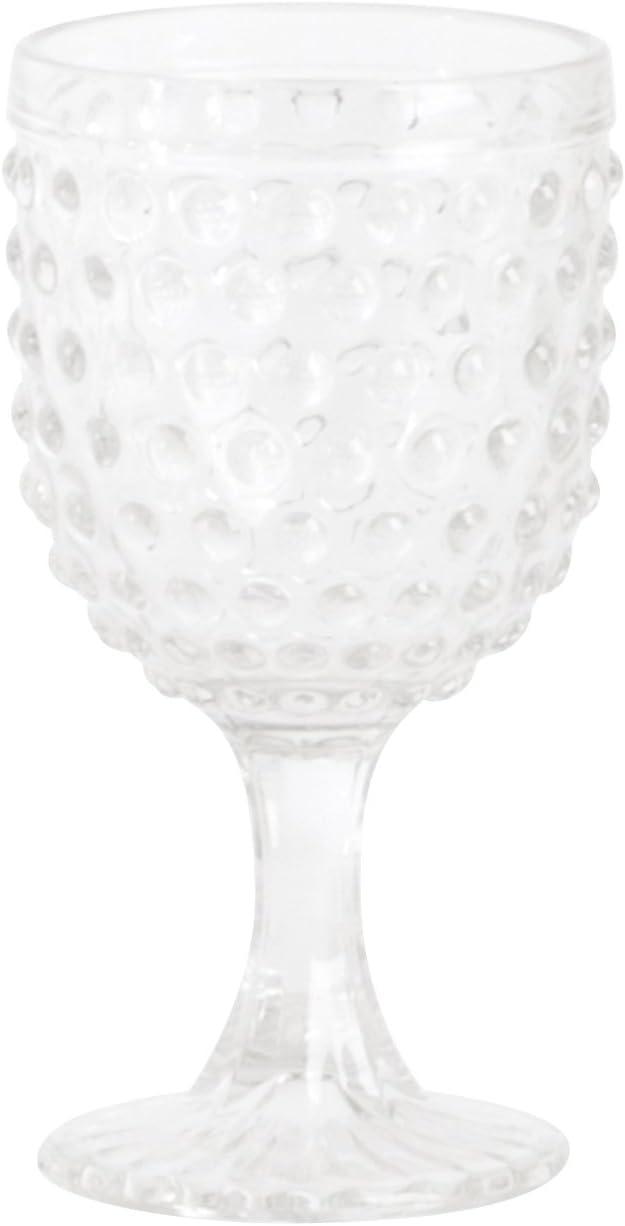 13.53 oz Set of 6 pcs Clear SARO LIFESTYLE SE006.C Hobnail Highball Glass