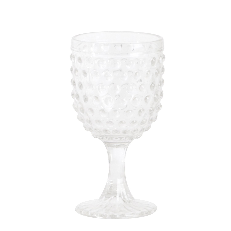 SARO LIFESTYLE SE005.C Hobnail Wine Glass, Clear, 11.84-oz (Set of 6 pcs)